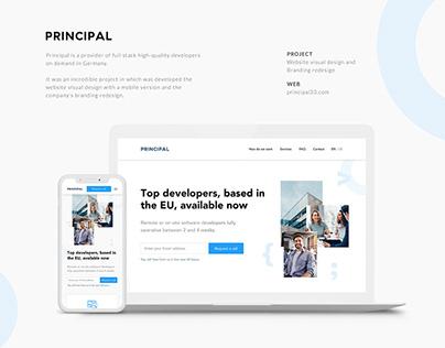 Principal website and branding redesign