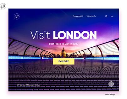 Tourism Website Landing Page