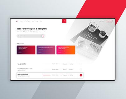 Redesigning MyanmarDevJobs.com Landing Page Ui Design