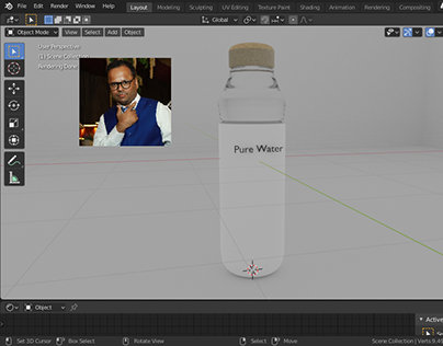 Product 3d Modelling with Texture In Blender Live Video