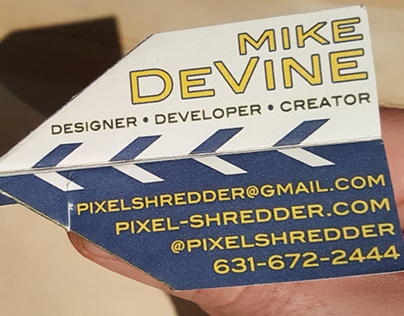 DESIGN: Paper Airplane Business Cards