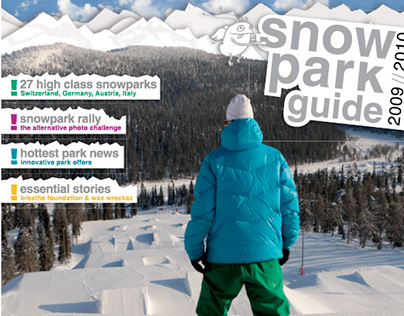 EDITORIAL design: Snow Park Guide