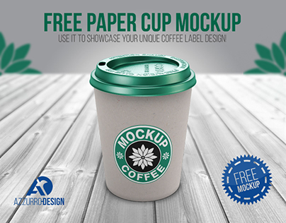 FREE paper cup mockup (PSD)