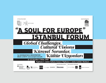 A Soul for Europe: Istanbul Forum - Visual Identity