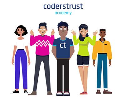 Coderstrust Academy intro animation