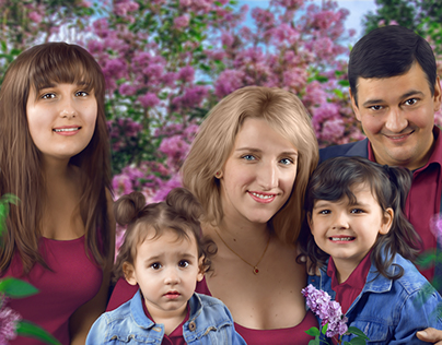 Family Portrait Photomanipulation