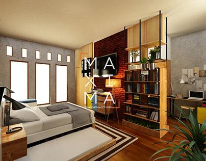 Industrial Bedroom Interior Design