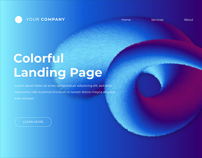 Color Landing Page - Free Template & Free Tutorial