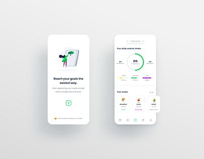 Calories Counter App UI