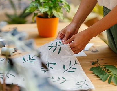 Handprinted Fabric Samples Book