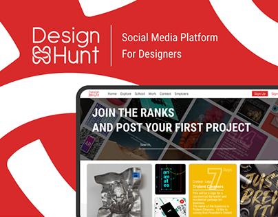 Design Hunt - social media platform for designers