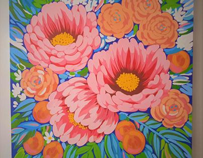 Floral - Acrylic on canvas