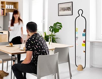 Katalyst: room divider & memo rack