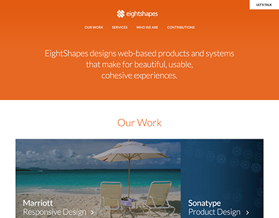 EightShapes Website Redesign