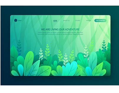 Garden Green Web UI design