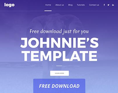 Johnnie Free WEBSITE Template Download
