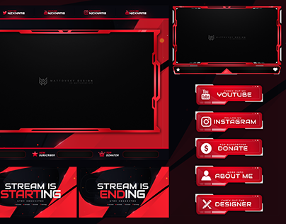 STREAM OVERLAY TEMPLATE DOWNLOAD PSD PACKAGE