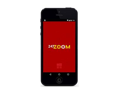 247 zoom Mobile App Design