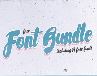 The Free 14 Fonts Bundle