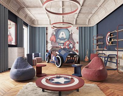 Captain America Child Room