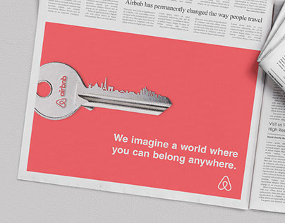 Airbnb Newspaper adv