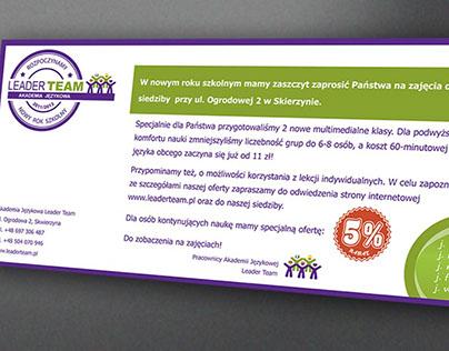 Logotype, leaflet