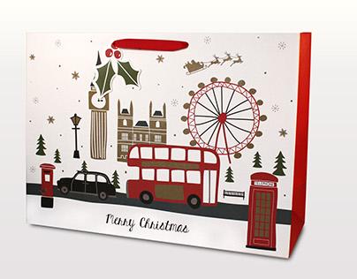 Sainsburys London Christmas gift bags
