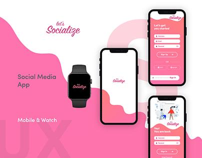 let's Socialize - A social media app design
