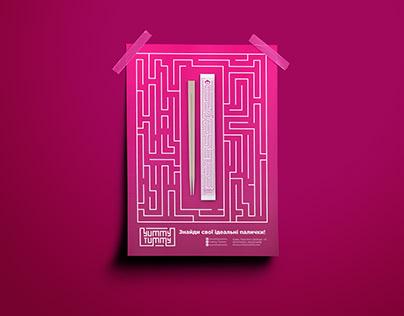 Poster design for chopsticks