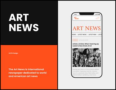 ArtNews — redesign website
