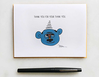 No, Thank You! Greeting Card.
