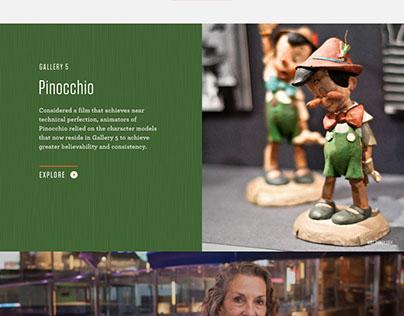 Walt Disney Family Museum Website redesign/recode