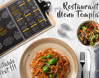 Restaurant Dark Menu Flyer Template