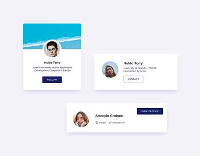 Day 1205・Profile Cards UI Design