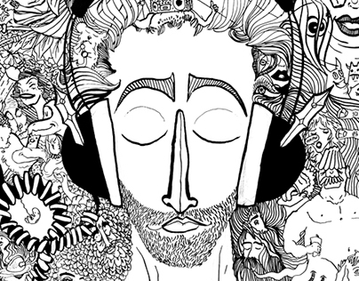 Headphone Escape Mural
