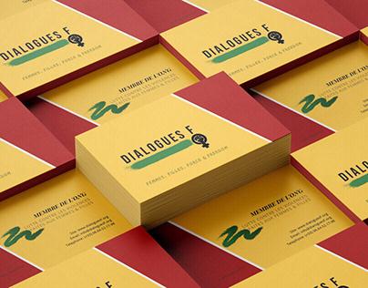 NGO DialoguesF | branding & webdesign