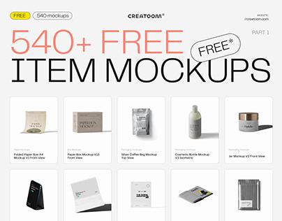 540 Free item mockups