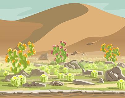 Desert area creation