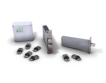 Product 3D Rendering. Electronic lock system.