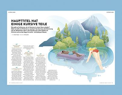 Illustrations for Schweizer Familie Magazine