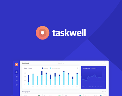 Taskwell (Dashboard, landing page, mobile application)