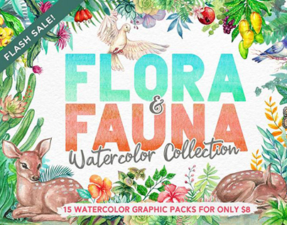 Flora And Fauna Watercolor Collection