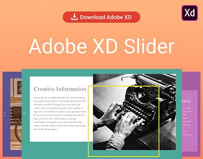 Adobe XD Slider Design & Download