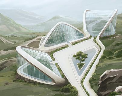 Futuristic Botanical Garden