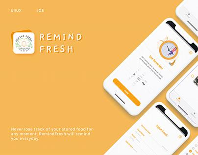 RemindFresh App UI/UX