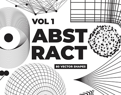 80 Vector Abstract Shapes Vol.1