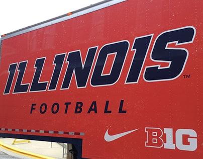 Illinois Football Equipment Trailer