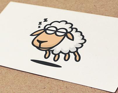 Sheep Walking Logo Design