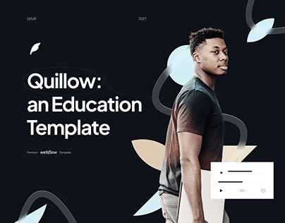 Quillow Webflow Template Website (UI/UX)