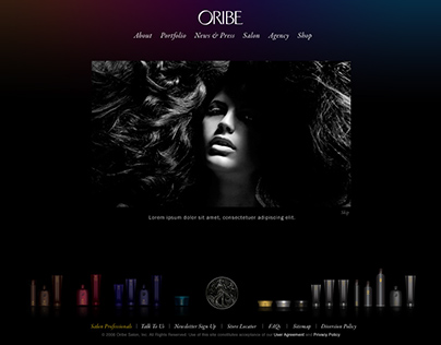 Oribe - Site Design for Professional Haircare Products